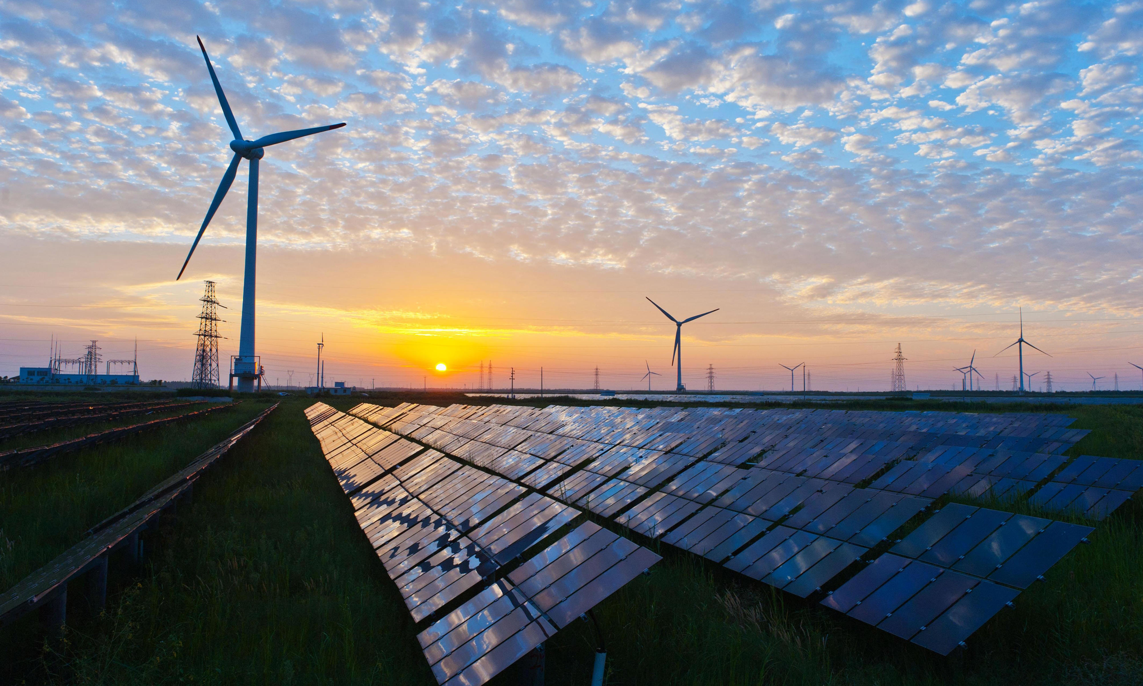 sunset-view-at-solar-power-station