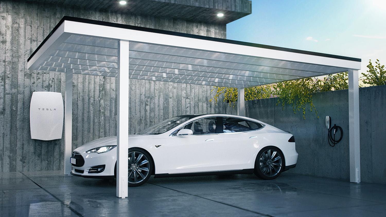 Tesla Zonnepanelen Carport | Stel zelf je offerte samen! | OUXO